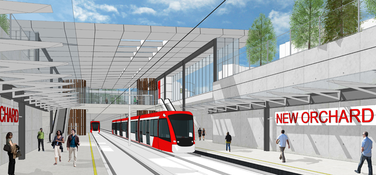 Western LRT - New Orchard Station Platform View